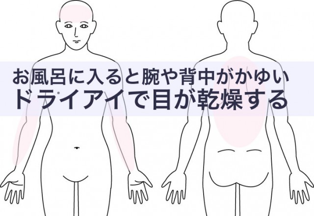 お風呂に入ると腕や背中がかゆい
