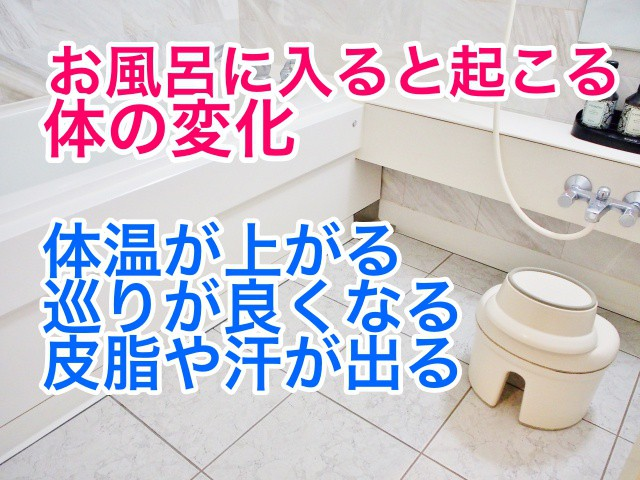 お風呂に入ると起こる体の変化