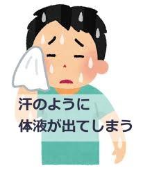 体から汗のように体液が出る原因と対処法