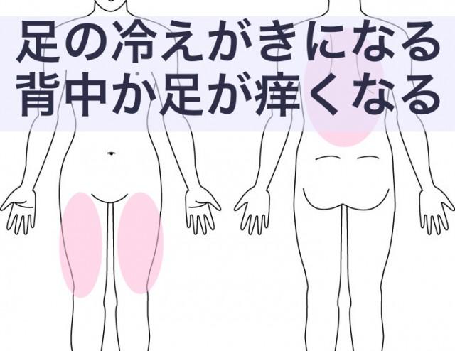 足や背中のコリや痒み