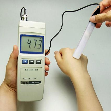 皮膚pH測定