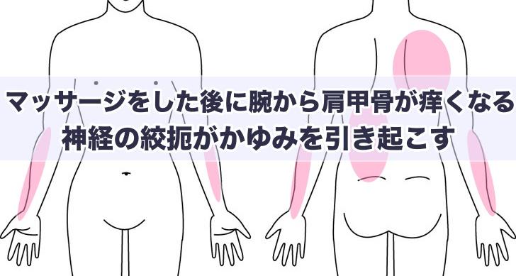 腕から肩甲骨が痒くなる
