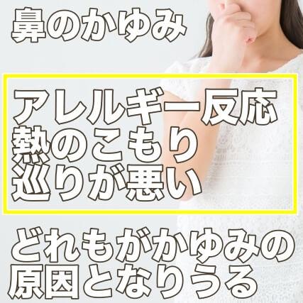 鼻のかゆみの原因