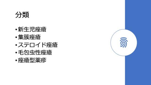 ニキビの分類