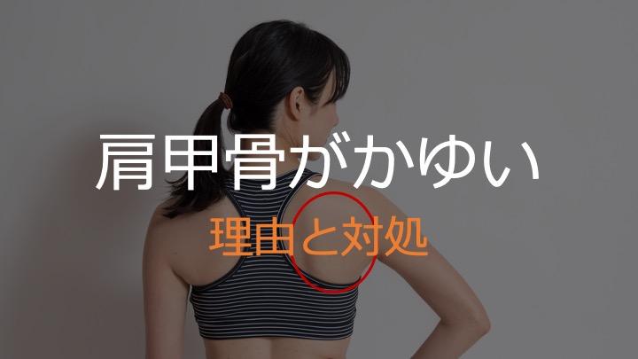 肩甲骨がかゆい理由と対処