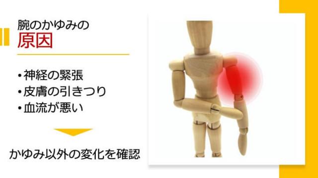腕のかゆみの原因